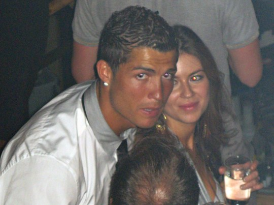 """EXCLUSIVE: Cristiano Ronaldo parties at Rain Nightclub in Las Vegas with Kathryn Moyorga in June 2009. Former hotel hostess Mayorga has claimed that the Portuguese soccer star raped her in his ?770-a-night penthouse room at the Hotel Palms Place in Las Vegas in 2009. Ronaldo?s lawyer Christian Schertz has rubbished her allegations and vowed to take legal action against German magazine, Der Spiegel, who first published the claims. Ronaldo has branded the allegations """"fake news"""" and says the sex was consensual. Pictured: Cristiano Ronaldo,Kathryn Moyorga Ref: SPL3071683 130609 EXCLUSIVE Picture by: Flynetpictures.com / SplashNews.com Splash News and Pictures Los Angeles: 310-821-2666 New York: 212-619-2666 London: 0207 644 7656 Milan: +39 02 4399 8577 Sydney: +61 02 9240 7700 photodesk@splashnews.com World Rights"""
