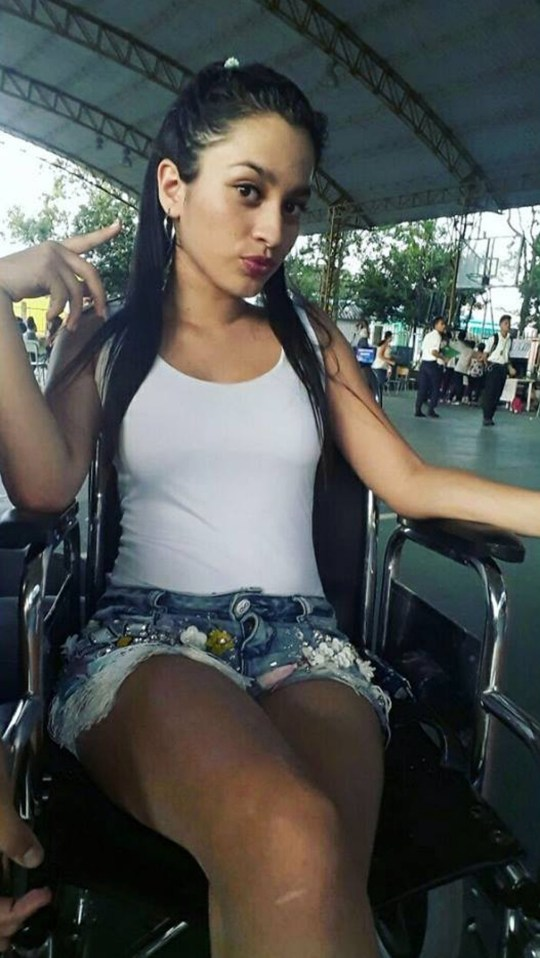 """Pic shows: Luisa Fernanda Buitrago. A pregnant teenager has lost her baby and has been left in a wheelchair after she had a tattoo on her right breast. Luisa Fernanda, 16, from central Colombia's Casanare Department, fell ill after the tattoo became infected. Doctors told her the pretty teenager that she would never walk again after the infection spread into her spinal cord. She underwent surgery to drain off some of the liquid caused by the infection but then developed problems with her appendix. Miss Fernanda said: """"As I had to take a lot of medicine, I had a miscarriage and lost the son I was carrying."""" She then needed further treatment to help her deal with depression caused by the loss of her baby. Miss Fernanda has now spoken out about her experiences on social media to warn other youngsters about the dangers of tattoos. She said: """"A year ago I had a tattoo done and it caused the bacteria that affected the spinal cord and stopped me from walking again. """"It was hard when I was told by the surgeons that I would not able to walk again. My mum supported me a lot."""" """"And it was hard when I left hospital because I needed help to get in and out of my wheelchair and my mum is not strong enough. """"I was ashamed of being seen outside on the street, because people would point at me, but later I realised it was not good to stay at home all the time."""" Miss Fernanda added that surgeons had told her that she needed a further operation as she battles to regain her health. Her friends are helping her try to find the money to cover the cost of her 14-million-COP (3,600-GBP) treatment."""