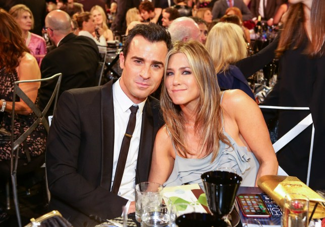 Justin Theroux and Jennifer Aniston at awards show