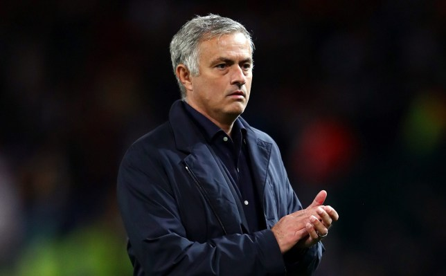 MANCHESTER, ENGLAND - OCTOBER 02: Jose Mourinho, Manager of Manchester United shows appreciation to the crowd after the Group H match of the UEFA Champions League between Manchester United and Valencia at Old Trafford on October 2, 2018 in Manchester, United Kingdom. (Photo by Clive Brunskill/Getty Images)