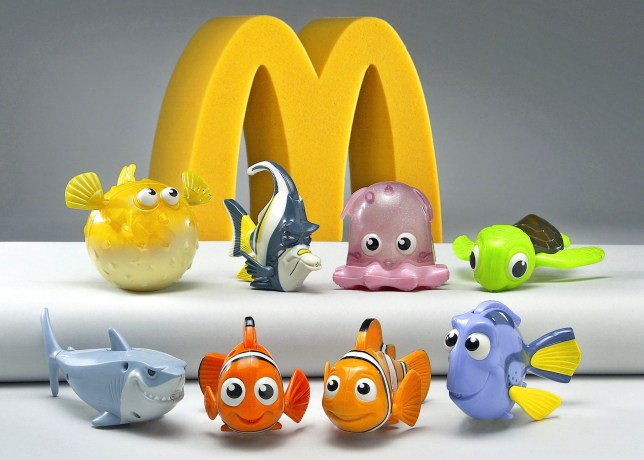 "Eight colorful characters from the computer animated film ""Finding Nemo"" the Walt Disney Pictures presentation of a Pixar Animation Studios' film are shown in this 2003 file photograph. The character toys were featured in Happy Meal's from McDonald's for children. Disney CEO Robert Iger has been authorized by the Disney board to make an offer to buy Pixar Animation Studios Inc and is expected to do so by January 24, a source familiar with the matter said late January 23. NO SALES NO ARCHIVES REUTERS/PrNewsFoto/Handout/Files"