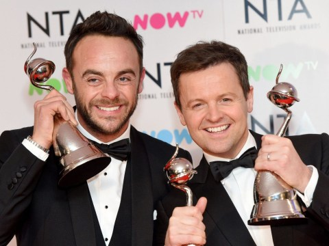 What TV shows did Ant McPartlin work on in 2018 to qualify for a National Television Award?