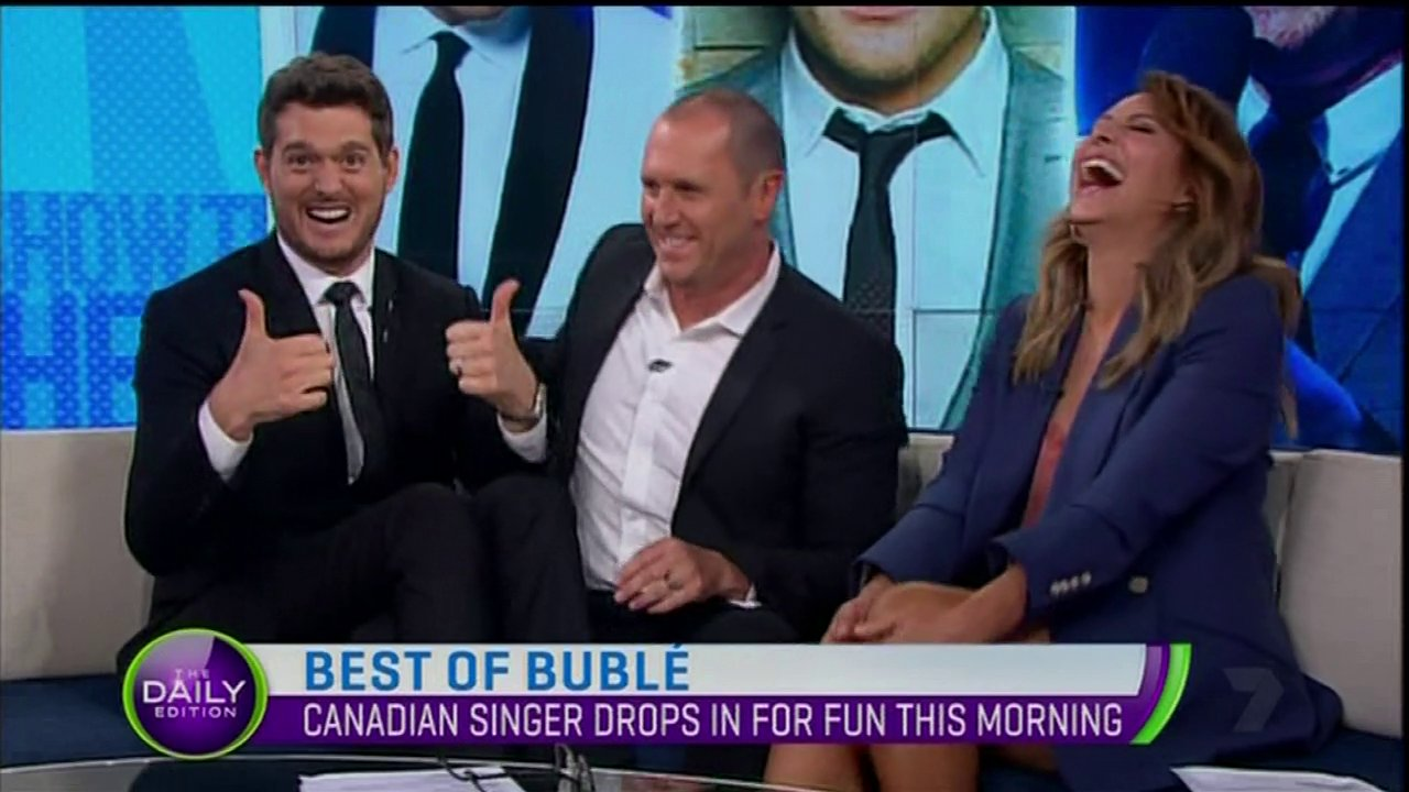 Michael Buble turns into IRL puppet for hilarious Australian TV interview