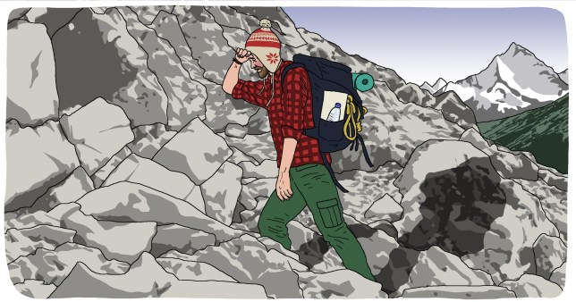 Illustration request: How to look after your mental health when backpacking alone Picture: Dave Anderson for Metro.co.uk