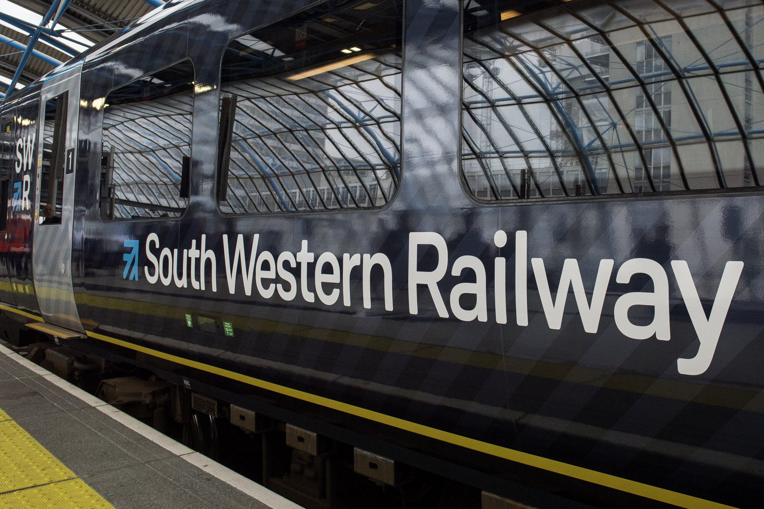 File photo dated 04/09/17 of a South Western Railway (SWR) train. Members of the Rail, Maritime and Transport union on SWR have started a 48-hour walkout in the the long-running dispute over driver-only trains. PRESS ASSOCIATION Photo. Issue date: Friday October 5, 2018. See PA story INDUSTRY Rail. Photo credit should read: Victoria Jones/PA Wire