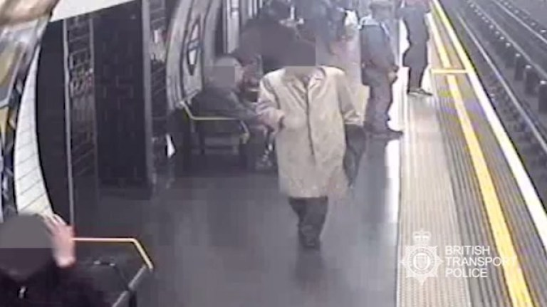 A 46-year-old man has today been convicted of two counts of attempted murder, after he pushed a 91-year-old man onto the train tracks at Marble Arch station and attempted to push another man onto the tracks at Tottenham Court Road station. Paul Crossley, of Leyton High Road, East London, was found guilty of two counts of attempted murder by a jury at the Old Bailey today following a five day trial. On the afternoon of 27th April earlier this year, it was alleged Crossley twice attempted to push 23-year-old man onto the tracks at Tottenham Court Road station. CCTV footage shows the victim, managing to regain his balance with help from members of the public and avoid falling in front of the oncoming Central Line service.