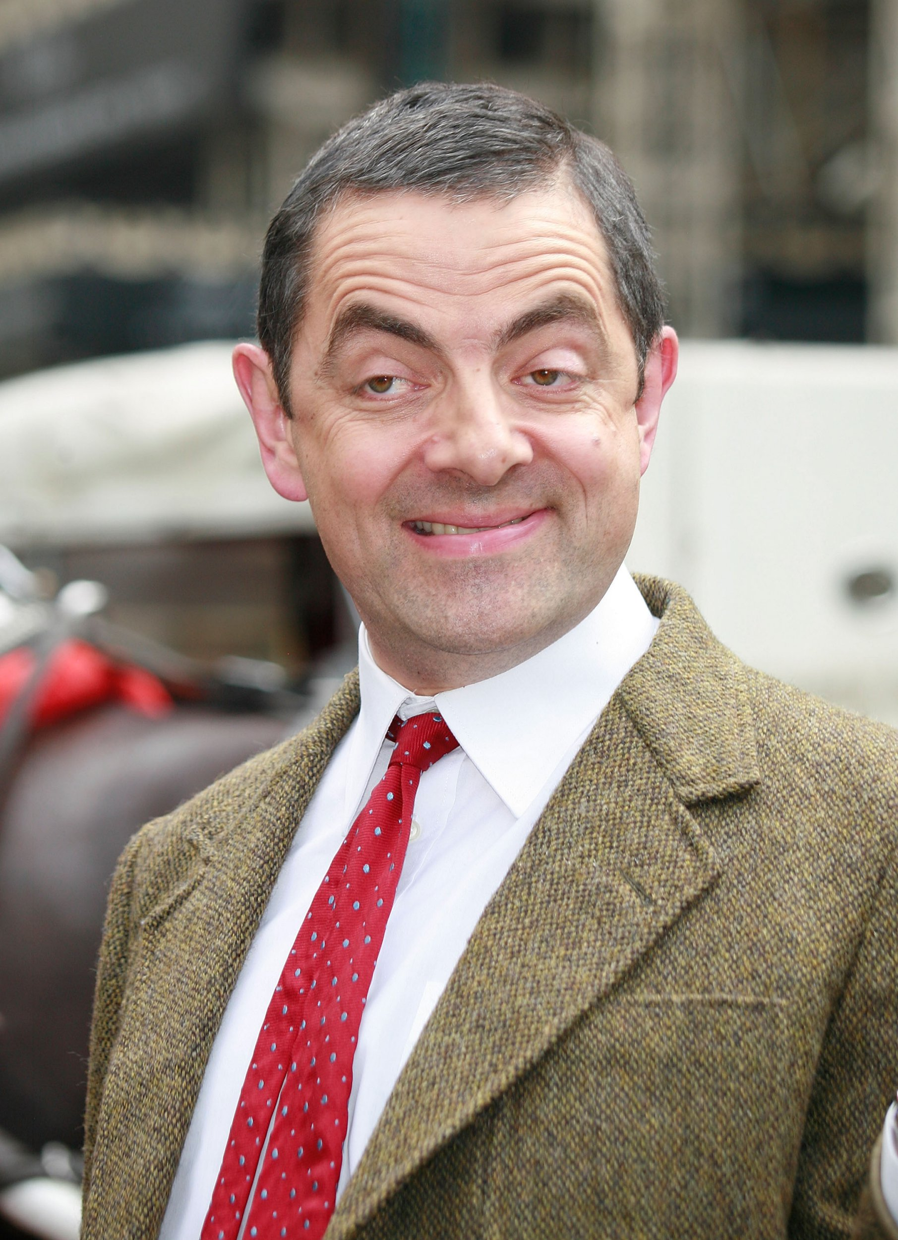 NEW YORK - JULY 19: Actor Rowan Atkinson AKA Mr. Bean sighting, posing in character for photographers on July 19, 2007 in 5th Avenue, New York. (Photo by Marcel Thomas/FilmMagic)