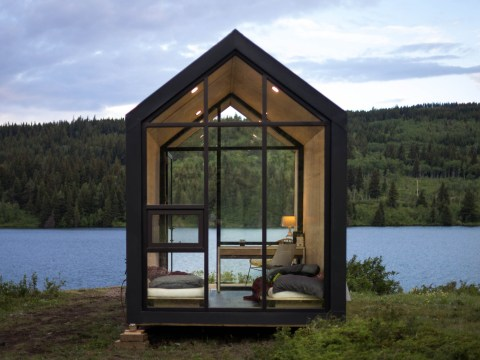 A tiny movable home is selling for £19,000
