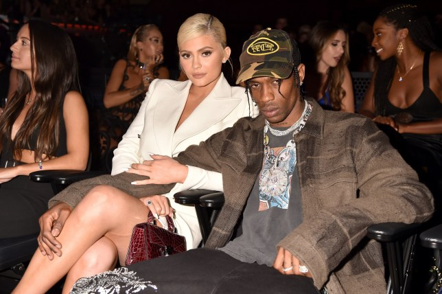 NEW YORK, NY - AUGUST 20: Kylie Jenner and Travis Scott attend the 2018 MTV Video Music Awards at Radio City Music Hall on August 20, 2018 in New York City. (Photo by Jeff Kravitz/FilmMagic)