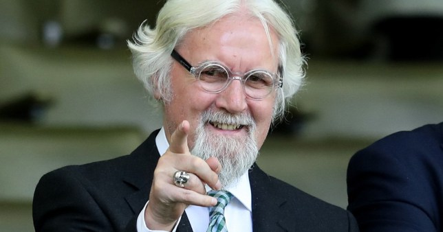 Celtic fan Billy Connolly during the Ladbrokes Scottish Premiership match at Celtic Park, Glasgow.