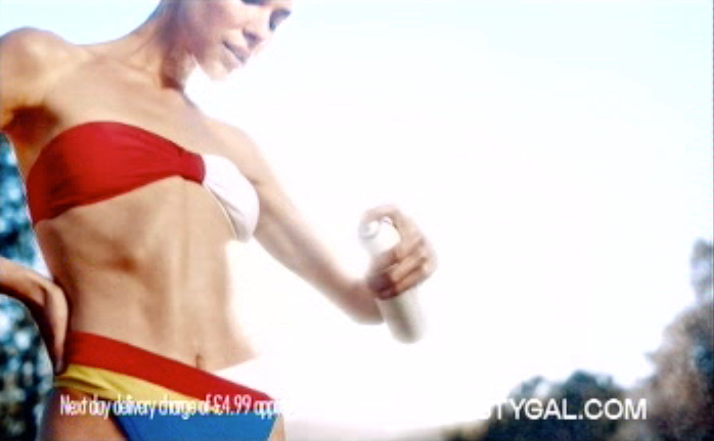 STIAN_NASTY GAL AD BAN3_IMAGE003 A TV AD for a clothing firm called Nasty Gal has been banned from being aired again for starring a 'too skinny' model showing off her rib cage. The ads for the womenswear firm showed the model posing in a string of outfits as well as playing tennis in a yellow swimsuit and golf in a red skirt and top. Three various ads of various lengths were aired in June this year, notching up 22 complaints from viewers, who said the model looked 'unhealthily thin' and that the ads were socially irresponsible. Bosses at the Advertising Standards Authority (ASA) banned the ads, saying they were irresponsible. STIAN ALEXANDER 07528 679198 Provider: nastygal.com