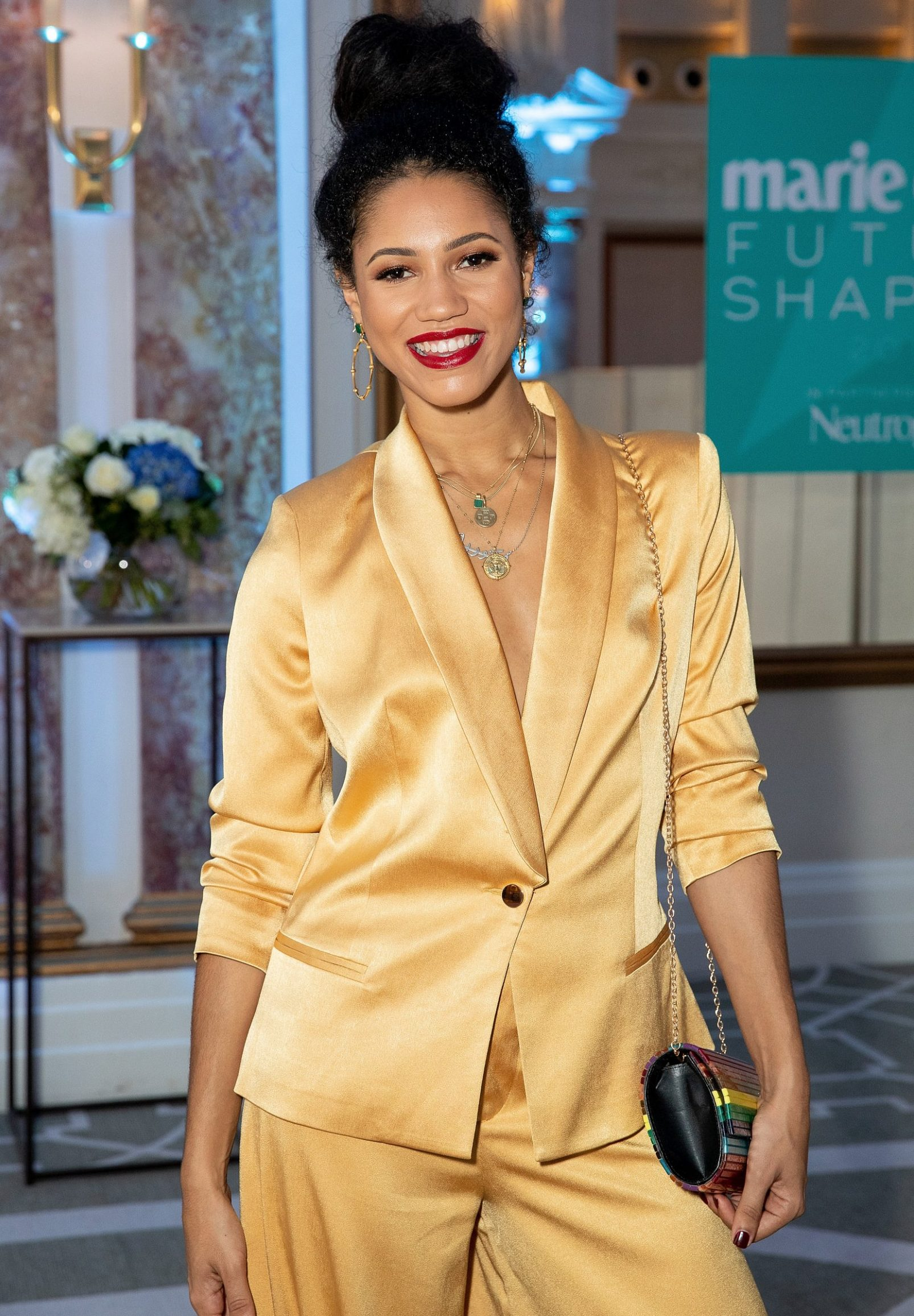 LONDON, ENGLAND - OCTOBER 09: Vick Hope attends the Marie Claire Future Shapers Awards, in partnership with Neutrogena, at The Principal Hotel on October 9, 2018 in London, England. (Photo by David M. Benett/Dave Benett/Getty Images for Marie Claire)