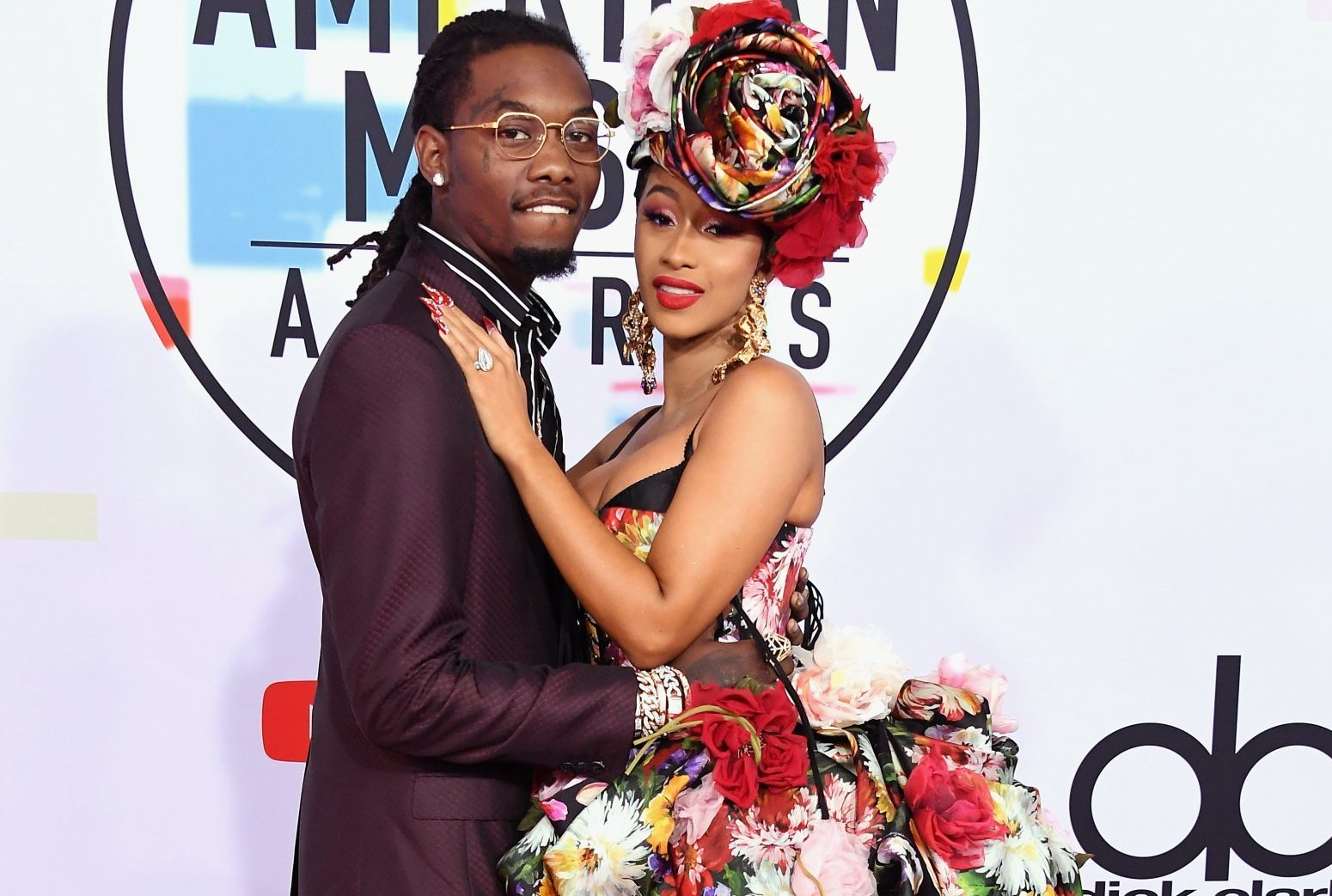 LOS ANGELES, CA - OCTOBER 09: Offset of Migos (L) and Cardi B attend the 2018 American Music Awards at Microsoft Theater on October 9, 2018 in Los Angeles, California. (Photo by Steve Granitz/WireImage)
