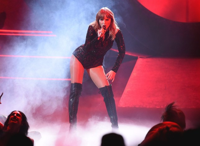 Mandatory Credit: Photo by Frank Micelotta/PictureGroup/REX (9919897aq) Taylor Swift American Music Awards, Show, Los Angeles, USA - 09 Oct 2018