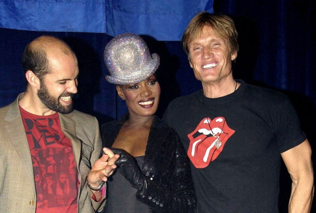 Mandatory Credit: Photo by RICHARD YOUNG/REX/Shutterstock (446530a) BILLY ZANE WITH GRACE JONES AND DOLPH LUNDGREN BILLY ZANE BIRTHDAY PARTY, SHEPHERDS BUSH EMPIRE, LONDON, BRITAIN - 11 MAR 2004
