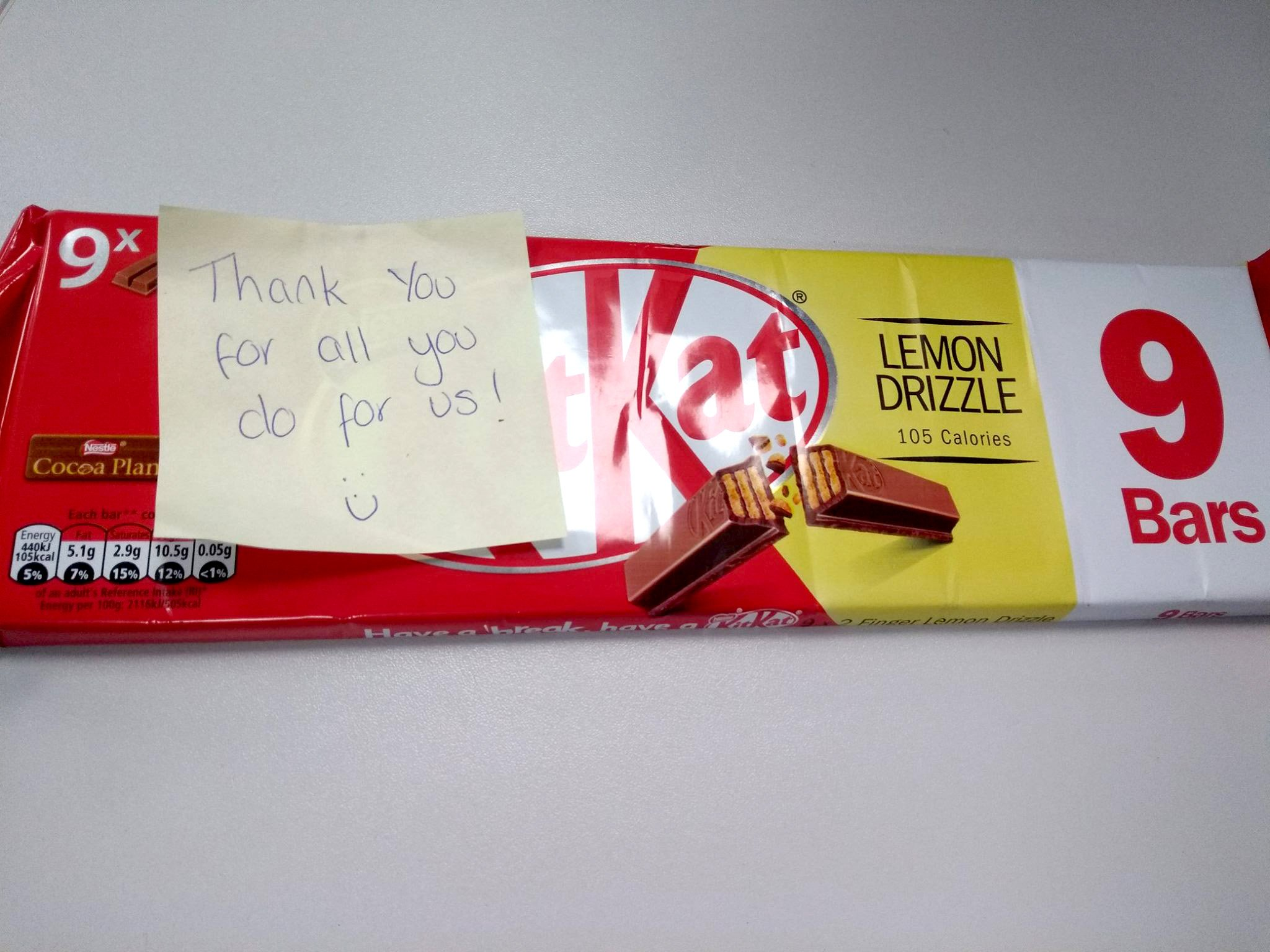 (Picture: Staffordshire Police) 'We have no idea who left this kind gesture and can only say this brought a smile to our faces' say PC Hughes and PC Rigby. They were pleasantly surprised to return to their marked police car in Rugeley to find this pack of biscuits with a note left anonymously.