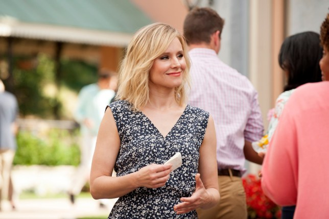 """THE GOOD PLACE -- """"Everything is Great!"""" Episode 201 -- Pictured: Kristen Bell as Eleanor Shellstrop -- (Photo by: Colleen Hayes/NBC/NBCU Photo Bank via Getty Images)"""