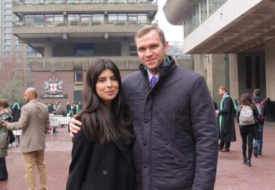 """Undated family handout photo of Matthew Hedges with his wife Daniela Tejada. The British student has been held in solitary confinement in the UAE after he was detained """"without explanation"""" five months ago following a research trip, it has been claimed. PRESS ASSOCIATION Photo. Issue date: Thursday October 11, 2018. Hedges, a PhD student at Durham University, was reportedly taken into custody at Dubai airport on May 5 after travelling to the UAE to interview sources about the country's foreign policy and security strategy. See PA story TRAVEL UAE. Photo credit should read: Daniela Tejada/PA Wire NOTE TO EDITORS: This handout photo may only be used in for editorial reporting purposes for the contemporaneous illustration of events, things or the people in the image or facts mentioned in the caption. Reuse of the picture may require further permission from the copyright holder."""