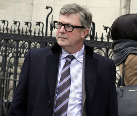 Richard Gittins / Champion News: 07948286566champion.news.service@gmail.comPicture shows businessman Clive Bellman, 60, outside London's High Court. He says he suffered brain damage after being punched by his boss at their works Christmas do, and now wants up to ?1m in compensation.