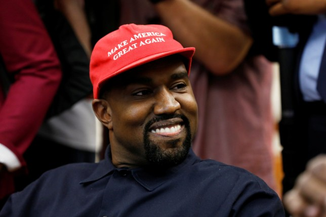 Rapper Kanye West smiles during a meeting with U.S. President Donald Trump to discuss criminal justice reform at the White House in Washington, U.S., October 11, 2018. REUTERS/Kevin Lamarque