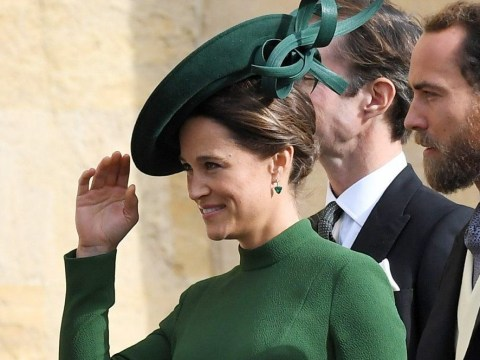 When is Pippa Middleton due to give birth as she's pictured arriving at Lindo Wing with James Matthews?
