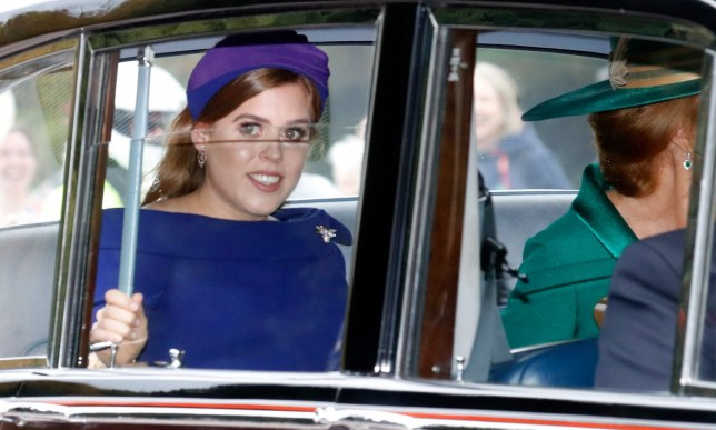 WINDSOR, ENGLAND - OCTOBER 12: Princess Beatrice of York and her mother Sarah Ferguson (R) arrive in their car to the Royal wedding of Princess Eugenie of York and Mr. Jack Brooksbank at St. George's Chapel on October 12, 2018 in Windsor, England. (Photo by Chris Jackson/Getty Images)
