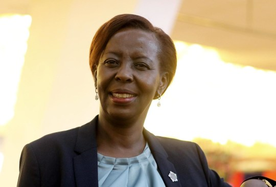 BGUK_1367005 - ** RIGHTS: ONLY UNITED KINGDOM ** Erevan, UNITED KINGDOM - Louise Mushikiwabo, former Minister in Rwanda, is appointed Secretary General of La Francophonie in Yerevan on October 12, 2018. Pictured: Louise Mushikiwabo BACKGRID UK 12 OCTOBER 2018 BYLINE MUST READ: BEST IMAGE / BACKGRID UK: +44 208 344 2007 / uksales@backgrid.com USA: +1 310 798 9111 / usasales@backgrid.com *UK Clients - Pictures Containing Children Please Pixelate Face Prior To Publication*