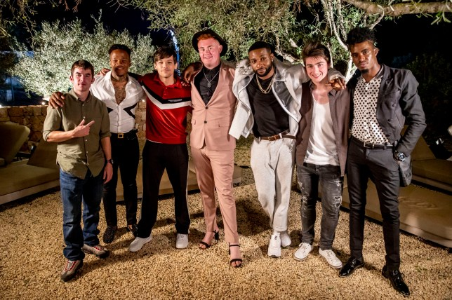 Embargoed to 0001 Saturday October 13 MANDATORY CREDIT REQUIRED: SYCO/THAMES TV Undated handout photo issued by ITV of Louis Tomlinson with The Boys in Ibiza for the Judges Houses stage on the ITV1 talent show, The X Factor. PRESS ASSOCIATION Photo. Issue date: Saturday October 13, 2018. See PA story SHOWBIZ XFactor. Photo credit should read: Tom Dymond/Syco/Thames TV/PA Wire NOTE TO EDITORS: This handout photo may only be used in for editorial reporting purposes for the contemporaneous illustration of events, things or the people in the image or facts mentioned in the caption. Reuse of the picture may require further permission from the copyright holder.