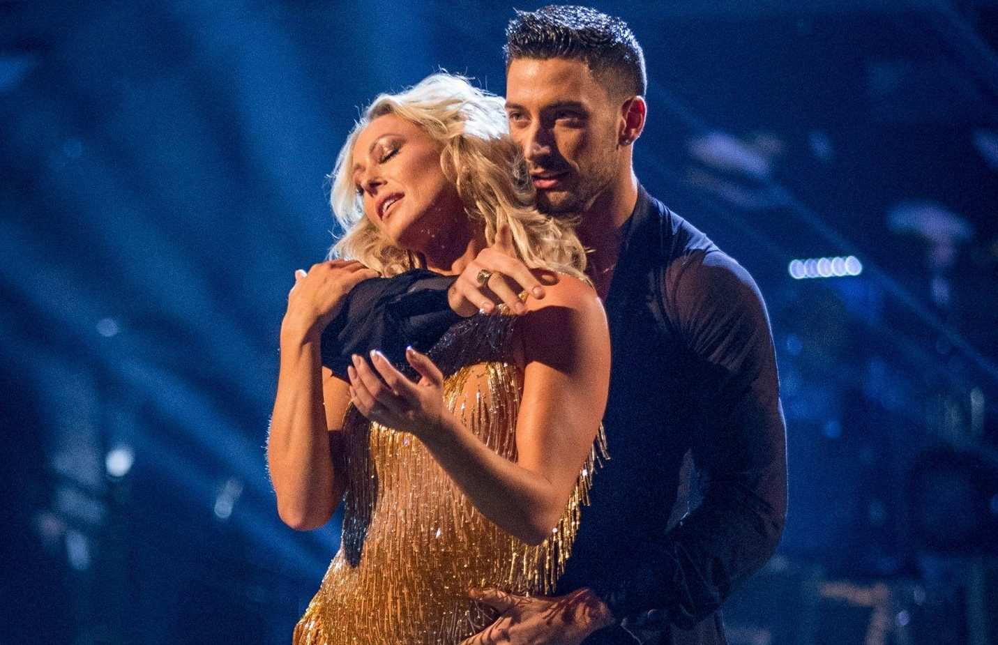 For use in UK, Ireland or Benelux countries only Undated BBC handout photo of Faye Tozer and Giovanni Pernice. PRESS ASSOCIATION Photo. Issue date: Saturday October 13, 2018. See PA story SHOWBIZ Strictly. Photo credit should read: Guy Levy/BBC/PA Wire NOTE TO EDITORS: Not for use more than 21 days after issue. You may use this picture without charge only for the purpose of publicising or reporting on current BBC programming, personnel or other BBC output or activity within 21 days of issue. Any use after that time MUST be cleared through BBC Picture Publicity. Please credit the image to the BBC and any named photographer or independent programme maker, as described in th