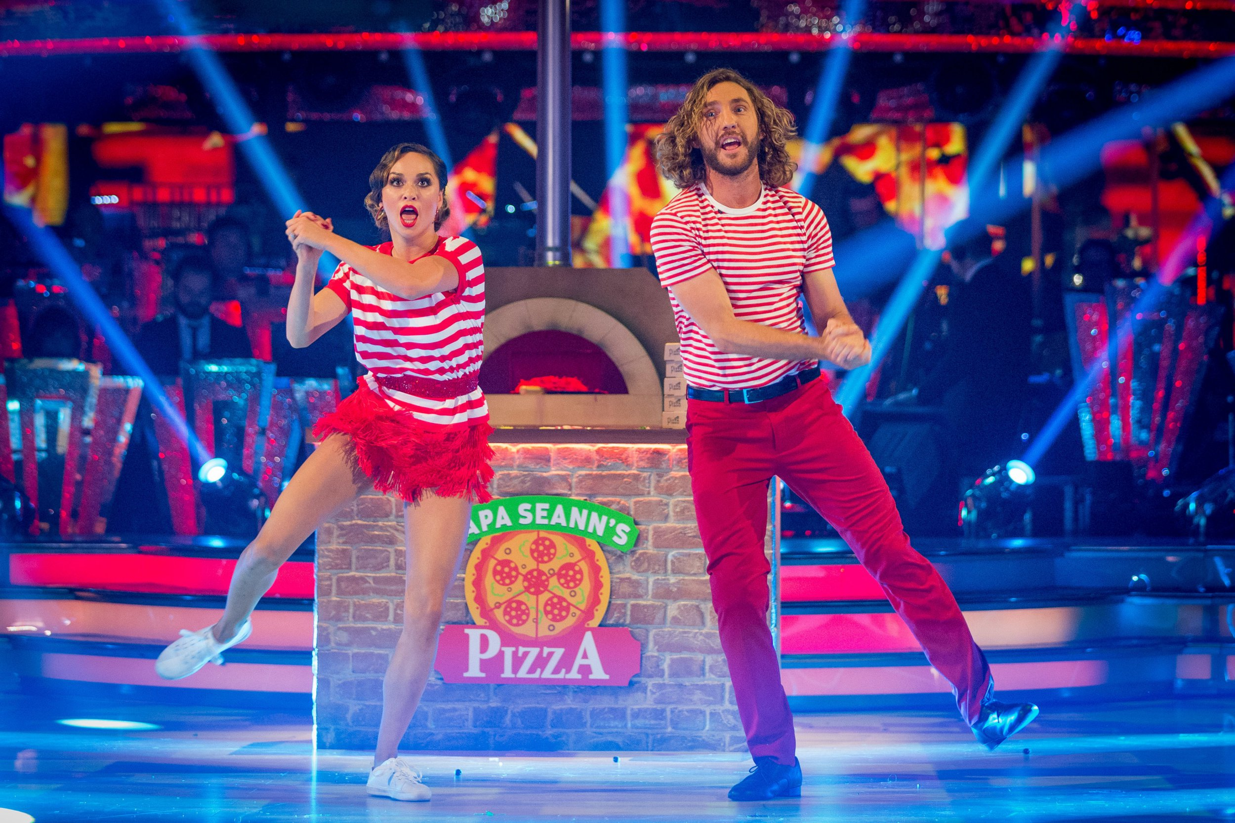 For use in UK, Ireland or Benelux countries only Undated BBC handout photo of Katya Jones and Seann Walsh. PRESS ASSOCIATION Photo. Issue date: Saturday October 13, 2018. See PA story SHOWBIZ Strictly. Photo credit should read: Guy Levy/BBC/PA Wire NOTE TO EDITORS: Not for use more than 21 days after issue. You may use this picture without charge only for the purpose of publicising or reporting on current BBC programming, personnel or other BBC output or activity within 21 days of issue. Any use after that time MUST be cleared through BBC Picture Publicity. Please credit the image to the BBC and any named photographer or independent programme maker, as described in th