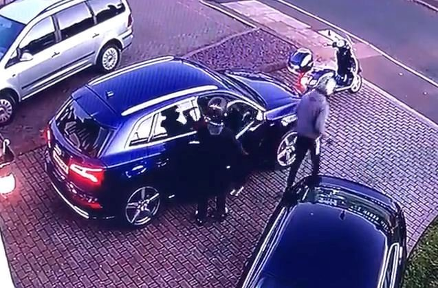 Video shows thieves stealing £57,000 Audi from outside home in just 60 seconds