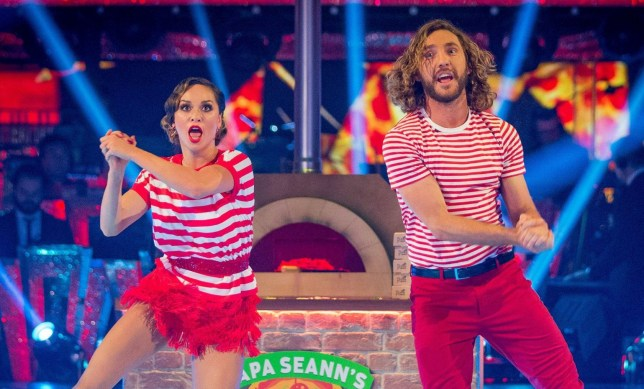 """For use in UK, Ireland or Benelux countries only Undated BBC handout file photo of Katya Jones and Seann Walsh on Strictly Come Dancing as the programme scored its highest ratings of the series so far as more than 10 million viewers tuned in to watch them perform their """"Dance of Shame"""". PRESS ASSOCIATION Photo. Issue date: Sunday October 14, 2018. See PA story SHOWBIZ Strictly. Photo credit should read: Guy Levy/BBC/PA Wire NOTE TO EDITORS: Not for use more than 21 days after issue. You may use this picture without charge only for the purpose of publicising or reporting on current BBC programming, personnel or other BBC output or activity within 21 days of issue. Any use after that time MUST be cleared through BBC Picture Publicity. Please credit the image to the BBC and any named photographer or independent programme maker, as described in the caption."""