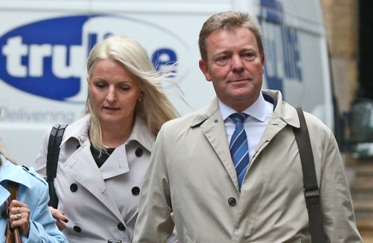 Conservative MP Craig Mackinlay (right), with his wife Kati Mackinlay (second left), arrive at Southwark Crown Court in London to face charges over his 2015 general election expenses. PRESS ASSOCIATION Photo. Picture date: Monday October 15, 2018. See PA story COURTS Expenses. Photo credit should read: Jonathan Brady/PA Wire
