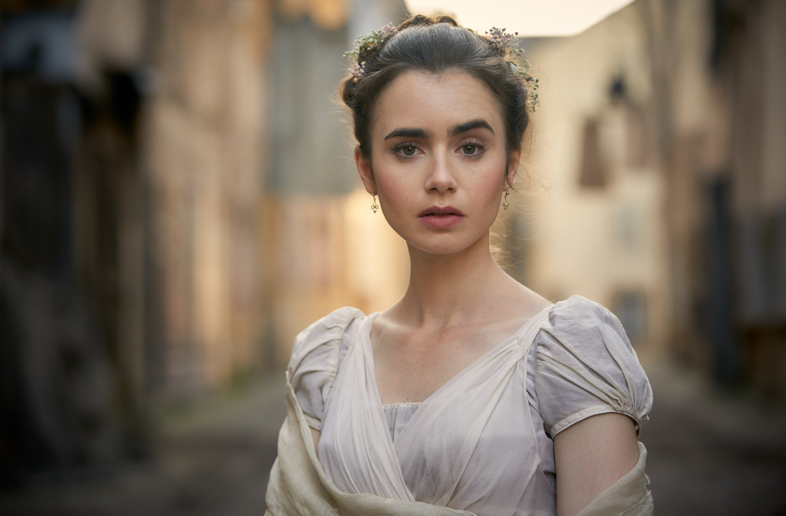 WARNING: Embargoed for publication until 22:00:00 on 15/10/2018 - Programme Name: Les Miserables - TX: 13/07/2018 - Episode: Les Miserables - First Look (No. n/a) - Picture Shows: **EMBARGOED FOR PUBLICATION UNTIL 22:00 HRS ON MONDAY 15TH OCTOBER 2018** Fantine (LILY COLLINS) - (C) BBC - Photographer: Robert Viglasky