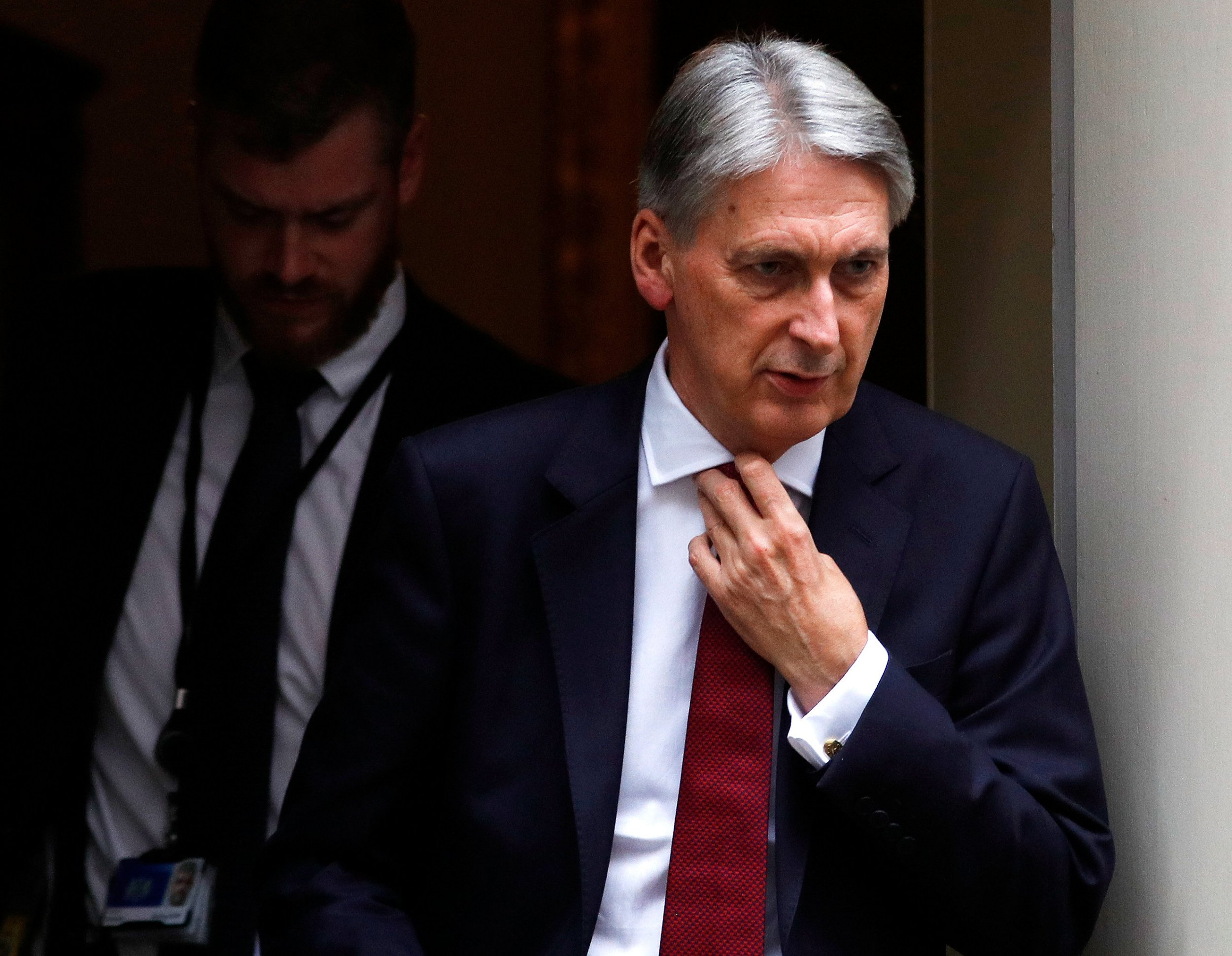 Britain's Chancellor of the Exchequer Philip Hammond leaves 11 Downing Street in London, Britain, October 15, 2018. REUTERS/Peter Nicholls
