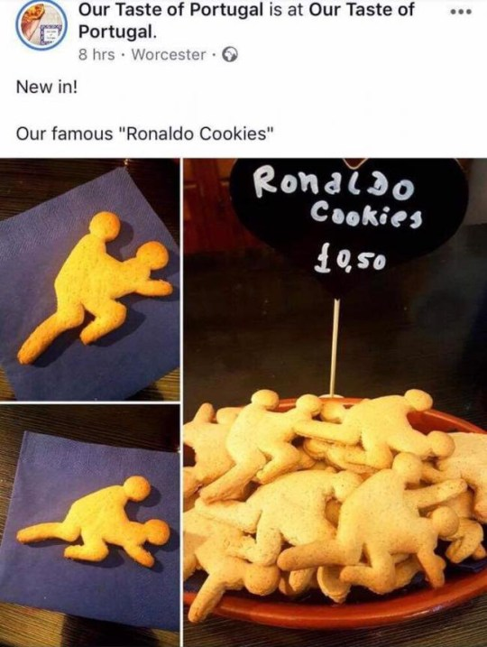 METRO GRAB - taken from the Facebook of Our Taste of Portugal no permission Rape biscuits Ronaldo Our Taste of Portugal
