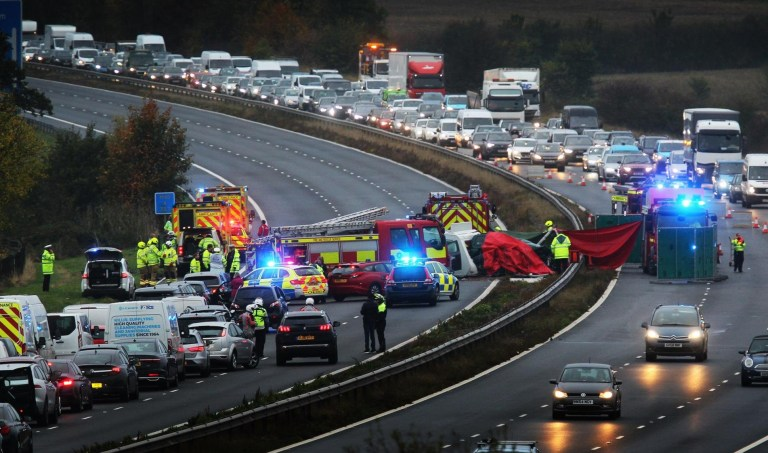 M40 crash: Motorway reopens 14 hours after closure