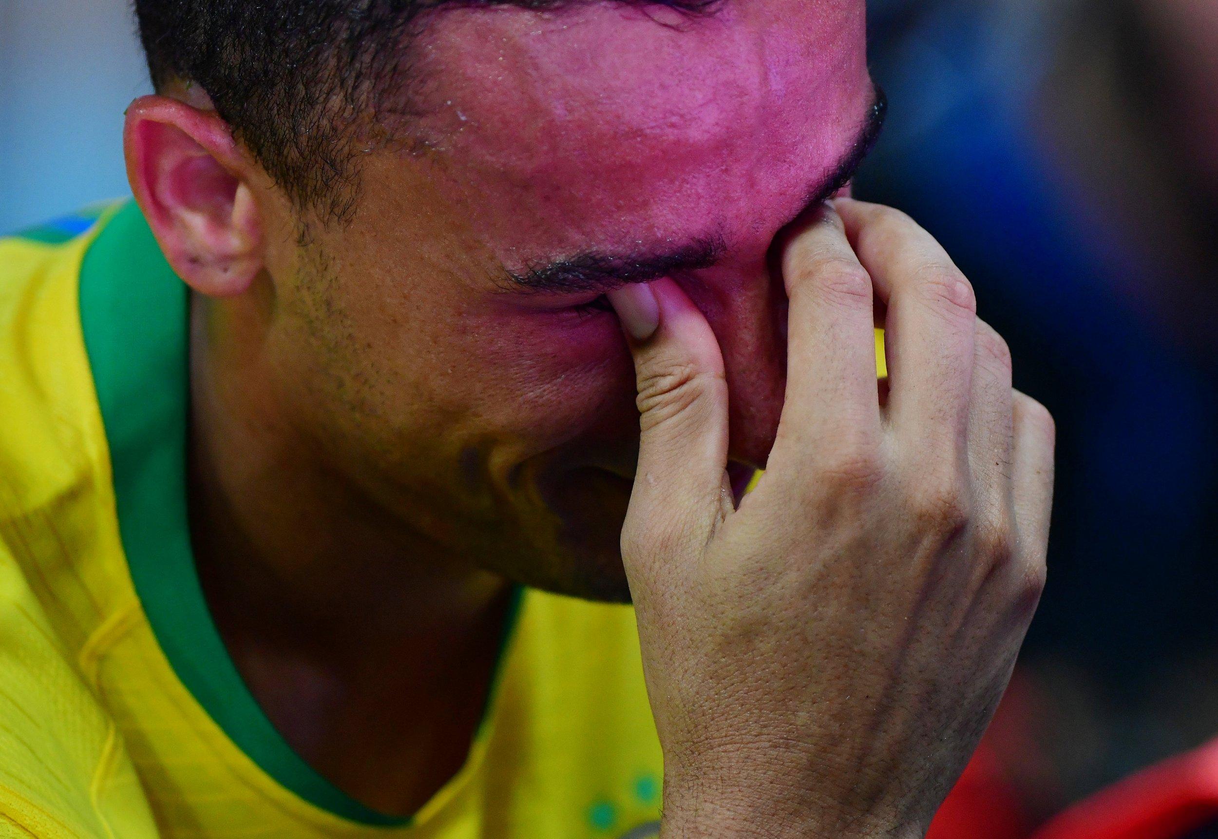 Man City star Danilo breaks down in tears after injury in Brazil vs Argentina