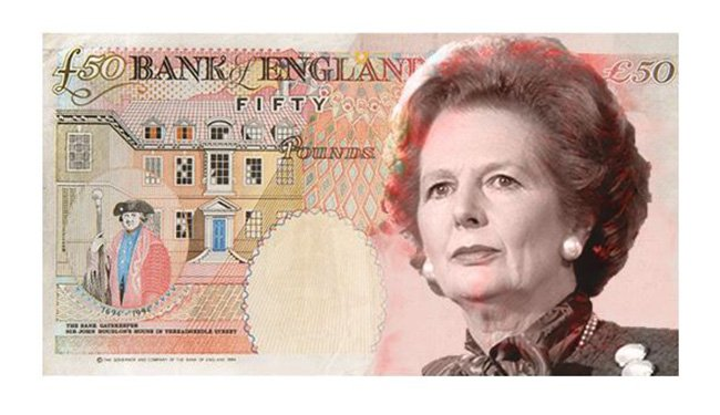 Margaret Thatcher for the Face of the New ?50 Note