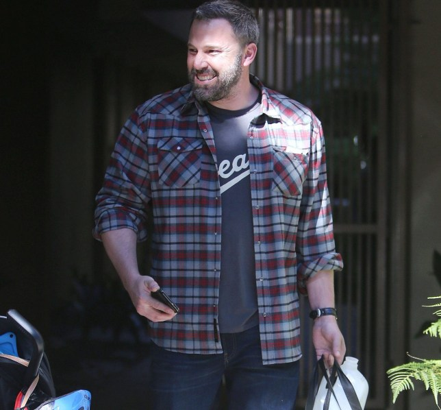 Ben Affleck out and about wearing a print T-shirt and plaid over shirt in Los Angeles, CA. Pictured: Ben Affleck Ref: SPL5033963 161018 NON-EXCLUSIVE Picture by: SplashNews.com Splash News and Pictures Los Angeles: 310-821-2666 New York: 212-619-2666 London: 0207 644 7656 Milan: +39 02 4399 8577 Sydney: +61 02 9240 7700 photodesk@splashnews.com World Rights, No France Rights