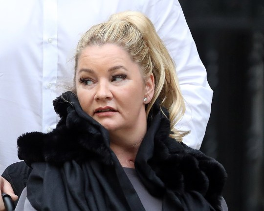 Pic shows: Claire Busby leaves the High Court in a wheelchair (with believed family members helping) She is suing a bed company, Beds Are Uzzz, for an injury sustained whilst having sex. pic by Gavin Rodgers/Pixel8000
