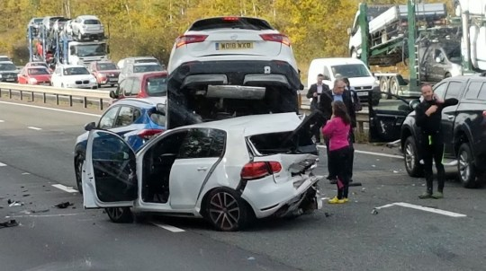 Cars pile up on M40 in third horror crash in three days | Metro News