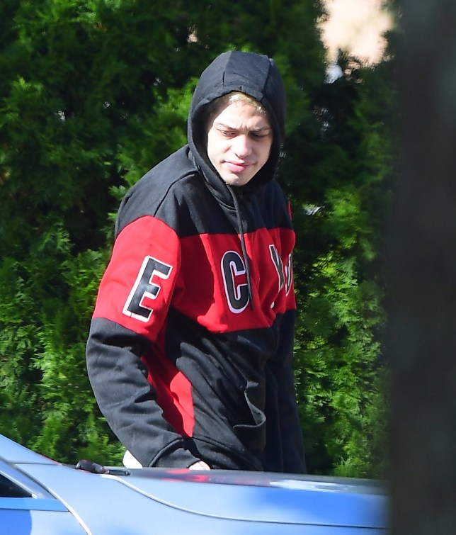 EXCLUSIVE: **PREMIUM EXCLUSIVE RATES APPLY** MUST AGREE FEES** * Min Web / Online Fee 500 gbp for set * * Min print fee 250 GBP PP * Double For Cover * Pete Davidson was seen for the First Time since his engagement with Ariana Grande was broken off. He looked dejected as he was seen running errands. He wore a black and red hoodie, as he got into his Mercedes Benz while supported by a male pal. He showed that his ?AG? tattoo on his right thumb was still intact, after she covered her ?Pete? finger tattoo in her first public appearance. Pictured: Ref: SPL5034133 171018 EXCLUSIVE Picture by: 247PAPS.TV / SplashNews.com Splash News and Pictures Los Angeles: 310-821-2666 New York: 212-619-2666 London: 0207 644 7656 Milan: +39 02 4399 8577 Sydney: +61 02 9240 7700 photodesk@splashnews.com World Rights, No Portugal Rights