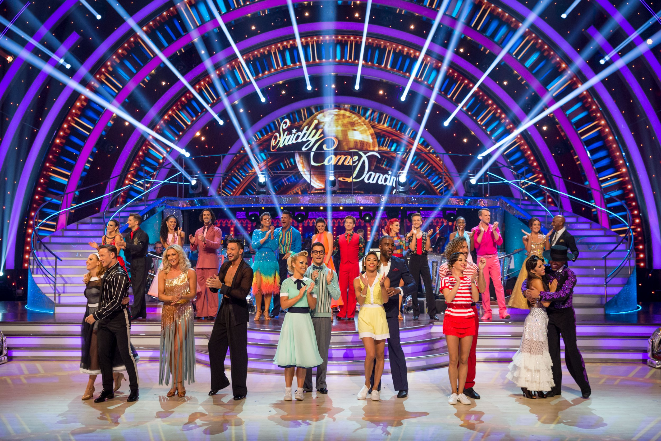 Programme Name: Strictly Come Dancing 2018 - TX: 13/10/2018 - Episode: n/a (No. n/a) - Picture Shows: Strictly Celebrities and Pro Dancers - (C) BBC - Photographer: Guy Levy