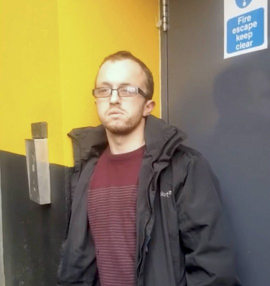 Dated: 18/10/2018 Daniel John Eldridge, from Durham, who has received a suspended prison sentence at Newton Aycliffe Magistrates Court after he was snared by paedophile hunters Geordie Chasers when he turned up to an illicit meeting with a 13-year-old girl armed with a bar of chocolate and bottle of coke. Pictured at the time he was confronted. See story and video by North News