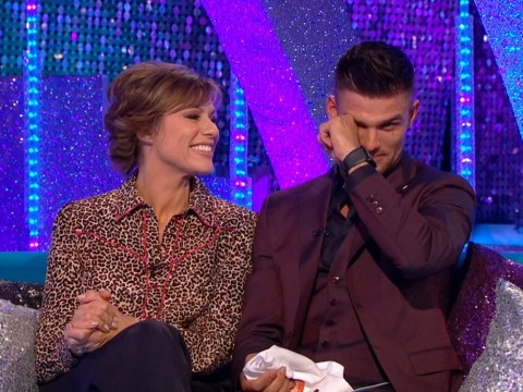 Strictly's Aljaz Skorjanec reduced to tears as Zoe Ball surprises dancer with emotional message
