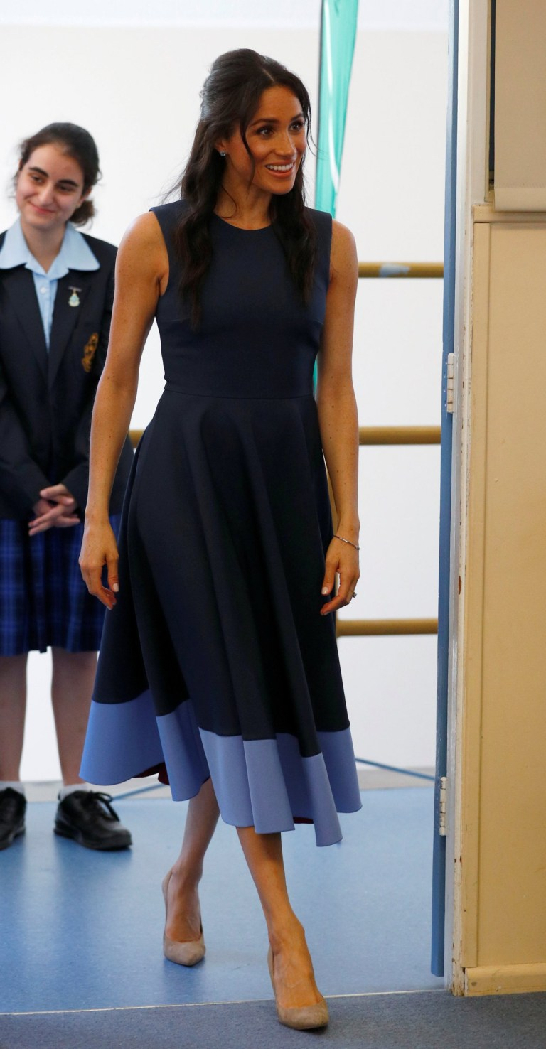 a88555e9f88dc The Duchess of Sussex during a visit to Macarthur Girls High School in  Sydney on the
