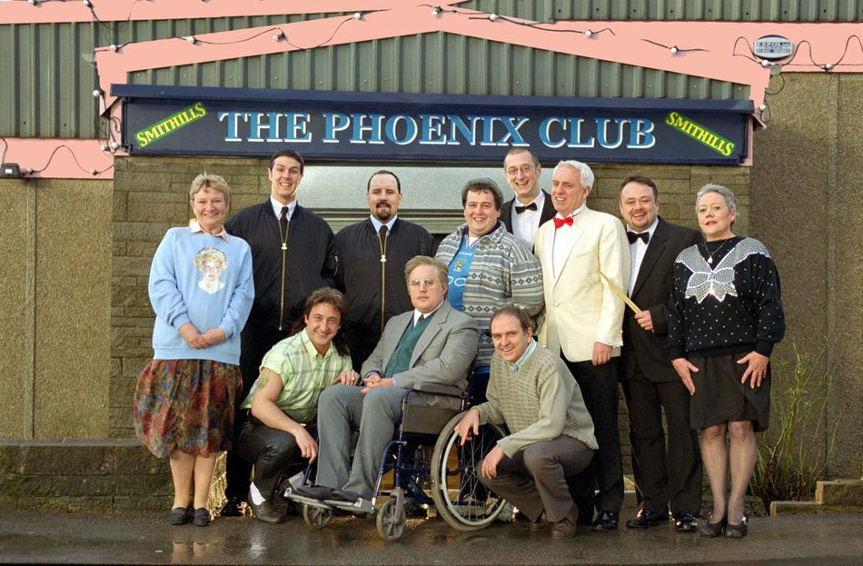 TELEVISION PROGRAMME: PETER KAY'S - PHOENIX NIGHTS Peter Kay's Pheonix Nights (Series 1) Cast shot with Peter Kay as Brian Potter Tx: This picture may be used solely for Channel 4 programme publicity purposes in connection with the current broadcast of the programme(s) featured in the national and local press and listings. Not to be reproduced or redistributed for any use or in any medium not set out above (including the internet or other electronic form) without the prior written consent of Channel 4 Picture Publicity 020 7306 8685...London...United Kingdom CHANNEL 4 PICTURE PUBLICITY 124 Horseferry Road London SW1P 2TX 020 7306 8685
