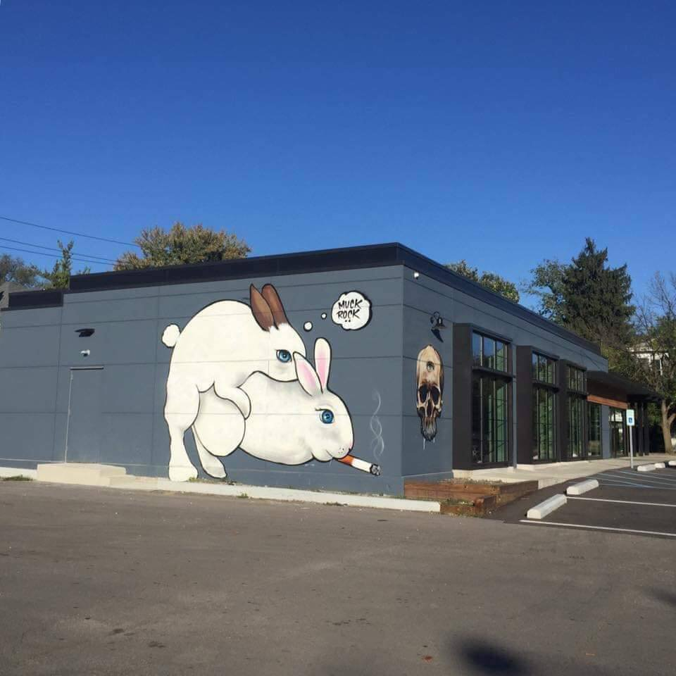 Bunny sex mural in Indianapolis (Picture: Ray Steele and The News/Facebook)