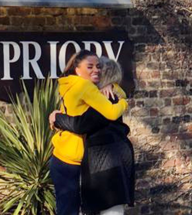 BGUK_1374272 - LONDON, UNITED KINGDOM - *PREMIUM-EXCLUSIVE* - *MUST CALL FOR PRICING* *STRICTLY NO WEB USE UNTIL FURTHER NOTICE* Katie Price aka Jordan is greeted by her mother Amy outside The Priory. An emotional but happy Katie gave her mother a big hug as she enters the rehab clinic due to her well documented arrest on suspicion of drink driving. It has been reported that Katie is spending around ??5,000-a-week to get help after drink and drug binges. Pictured: Katie Price - Jordan - Amy Price BACKGRID UK 19 OCTOBER 2018 UK: +44 208 344 2007 / uksales@backgrid.com USA: +1 310 798 9111 / usasales@backgrid.com *UK Clients - Pictures Containing Children Please Pixelate Face Prior To Publication*